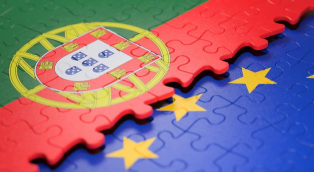 Portugal European Union Puzzle Flag